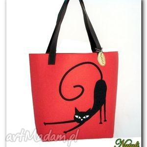 handmade torebki bardzo duża czerwona, xxl minimalistyczna torebka z aplikacją 3d