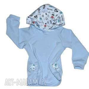 piraci niebieska bluza dla chłopca, bawełniana z kapturem, rozmiary od 68