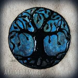 Notes A5 ze skórzaną miękką okładką Drzewo Życia - ręcznie robiony i malowany, drzewo