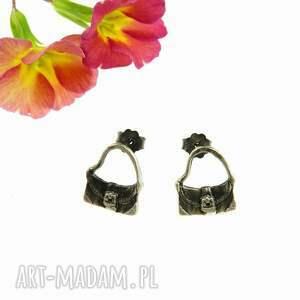 torebeczki - kolczyki na sztyftach, kolczyki, srebrne, biżuteria, prezent