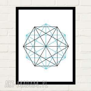 Double Hexagon Plakat 30x40, plakat