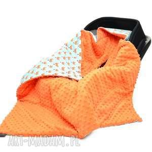 kocyk do fotelika nosidełka liski pomarańczowy - nosidełko