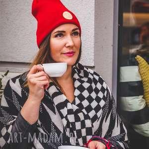 Czerwony dywan sport czapki brain inside jesień, zima, czapka,