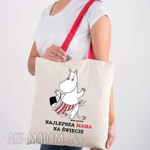licencjonowana torba muminki dla mamy najlepsza mama na świecie, naramie