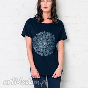 INDIA FLOWER Oversize T-shirt, oversize, tshirt, koszulka, bawełna, casual, moda