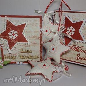 kartka świąteczna w zestawie upominkowym - życzenia, upominek