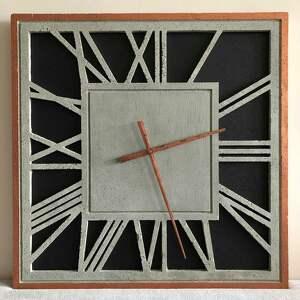 handmade zegary zegar ścienny z betonu betonowy emperor duży kwadratowy 60x60 miedź