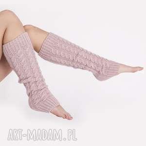 mkm swetry getry na kostki, get001 pastelowy róż mkm, pastelowy, swetrowe, dzianina