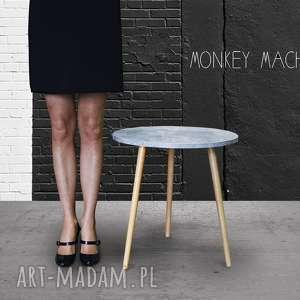 Stolik kawowy beton jasny stoły monkey machine stolik, kawowy