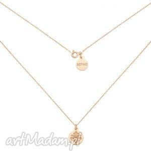 ręcznie zrobione naszyjniki naszyjnik z rożowego złota z rozetką
