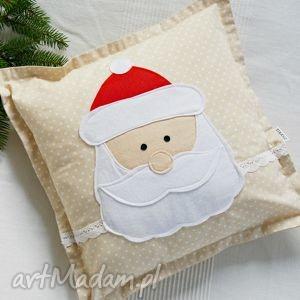 prezenty pod choinkę Św. Mikołaj, mikołaj, święta, bawełna, koronka, bożenarodzenie