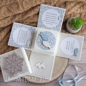 handmade exploding box ślubny, wyjątkowy i piękny prezent na ślub, dla młodej pary