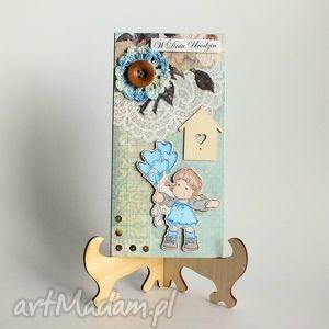 Kartka - Urodzinki Dziewczynki 1, kartka, urodziny, dziewczynka, romantyczna, błękit