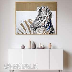 plakaty plakat a2 - zebra, plakat, wydruk, twarz, postać, kobieta