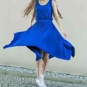 Sukienka sen jednej nocy kobalt sukienki trzyforu sukienki