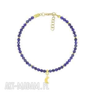 ręcznie robione bransoletka z lapisów lazuli i księżyca - earth energy