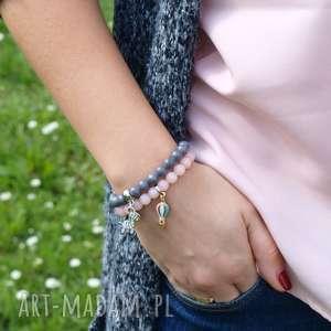 konieckropka komplet 2 marmurowych bransoletek, bransoletka, kobieta, prezent