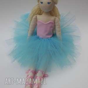 lalka #132, szmacianka, bawełniana, tiulowa, tilda, blond, przytulanka
