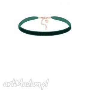 ręczne wykonanie naszyjniki szmaragdowy aksamitny choker z regulowanym zapięciem