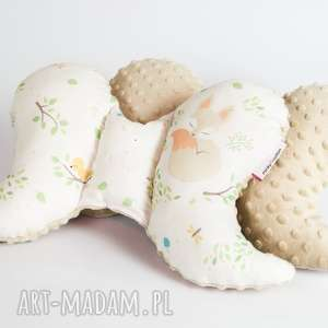 dla dziecka poduszka podróżna motylek - minky lisek, poduszka, motylek, zagłówek