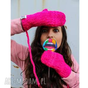 rękawiczki mode 10 - braininside, zima, handmade, rękawiczki, dwupalczaste