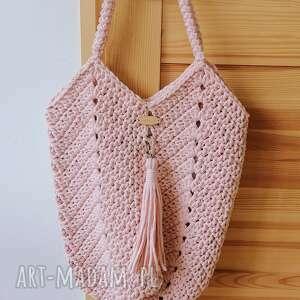the wool art sznurkowa torba, torebka, zesznurka, naramię