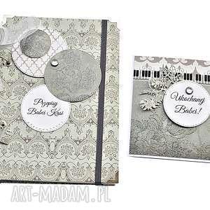 scrapbooking notesy elegancki zestaw prezentowy na dzień babci, przepiśnik, prezent