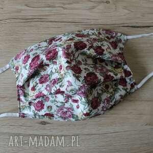 maseczki maseczka bawełniana - róże, maska, maseczka, maseczki, kolorowe