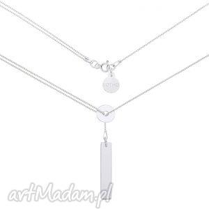 sotho srebrny naszyjnik z karmą i prostokątną blaszką