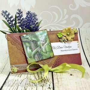 scrapbooking kartki kartka urodzinowa fantasy-smoki i elfy, kartka
