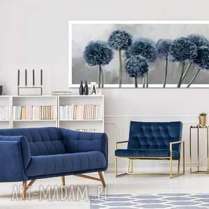 dom obraz drukowany na płótnie kwiaty czosnku w granacie-format 150x60cm 0399