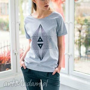 koszulki triangle oversize t-shirt, oversize, tshirt, szary, bawełna, casual, moda