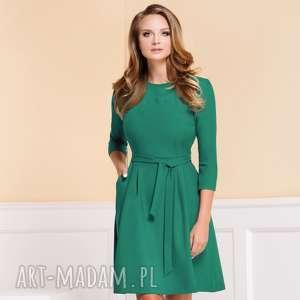 ręcznie zrobione sukienki sukienka monica turkusowa zieleń roz. 36