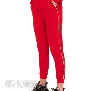 hand made spodnie dresowe faster czerwone