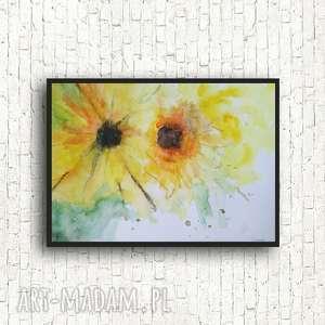 kwiaty-akwarela formatu a4, kwiaty, papier, akwarela