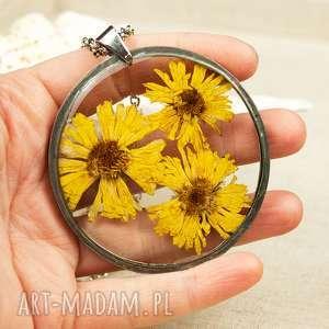 naszyjnik z prawdziwym kwiatem z49 - naszyjnik z kwiatów, herbarium jewelry