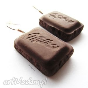 ręcznie robione kolczyki kolczyki czekoladki