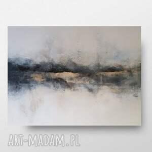 drugi brzeg-pejzaż-obraz akrylowy formatu 100/70 cm, pejzaż, akryl, nowoczesny