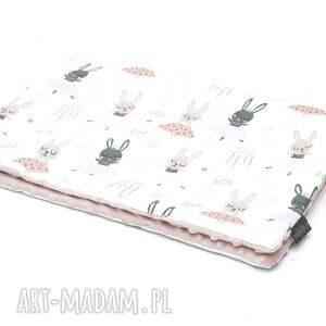 kocyk kołderka 50 x 75 cm minky bawełna baletnice, wyprawka, milutka