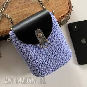 mini szydełkowa damska torebka na telefon, torebka