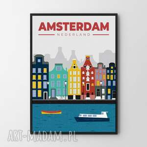 plakaty amsterdam - ilustracja 50x70