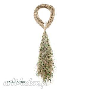 zielony eko krawat - krawat, ekologiczny, długi, lekki, stylowy, oryginalny