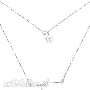 srebrny naszyjnik z piorunem - minimalistyczny, blogerski, zawieszka, srebro