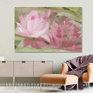 grafika na ścianę geometryczna tajemnica lilii 120 x 80, nowoczesny obraz