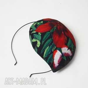 ozdoby do włosów botanik, fascynator, kwiat, łezka, toczek, prezent na święta