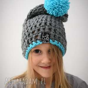 HelLove Kids 34, czapka, czapa, zima, zimowa, ciepła, pompon
