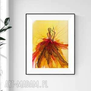 art krystyna siwek obraz ręcznie malowany 30x40 cm, abstrakcja kobieta, 2509242