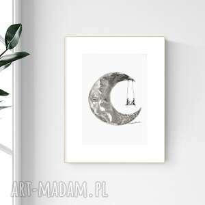 Grafika a4 malowana ręcznie, abstrakcja, styl skandynawski