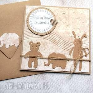 ręczne wykonanie kartki kartka na urodzinki:: beżowa