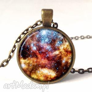 nebula - medalion z łańcuszkiem - kosmiczna, gwiazdy, galaxy